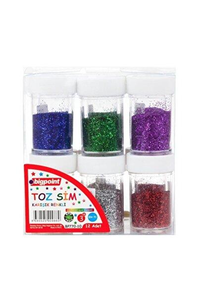 Toz Sim Karışık Renkli 8 gram 12'li Kutu