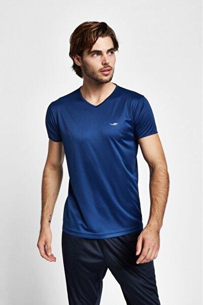19s-1221-19b Mavi Erkek Kısa Kollu T-shirt