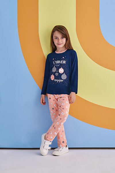 Magique Kız Çocuk Pijama Takımı Lacivert