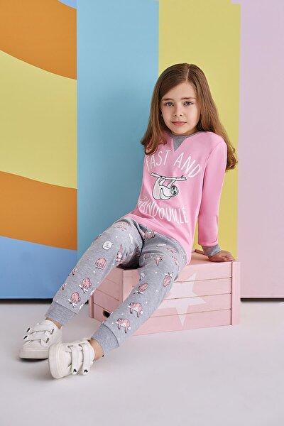 Fast and Glandouile Kız Çocuk Pijama Takımı Açık Pembe
