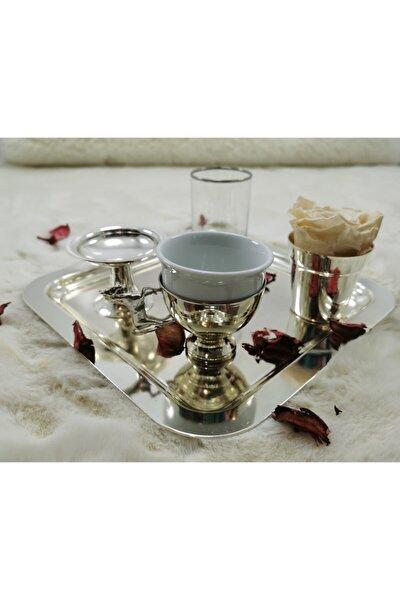 El Yapımı Bakır Kahve Sunum Seti