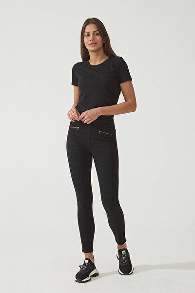 Kadın Judy Siyah Yüksek Bel Skinny Cepleri Fermuarlı Pantolon C 4521-025 C 4521-025