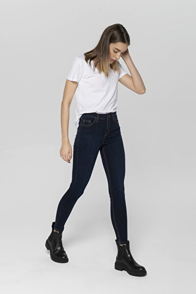 Judy Lacivert Yüksek Bel Skinny Fit Jean Pantolon