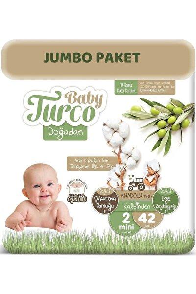 Bebek Bezi Doğadan Beden:2 (3-6kg) Mini (göbek Bağı Oyuntulu) 42 Adet Jumbo Pk