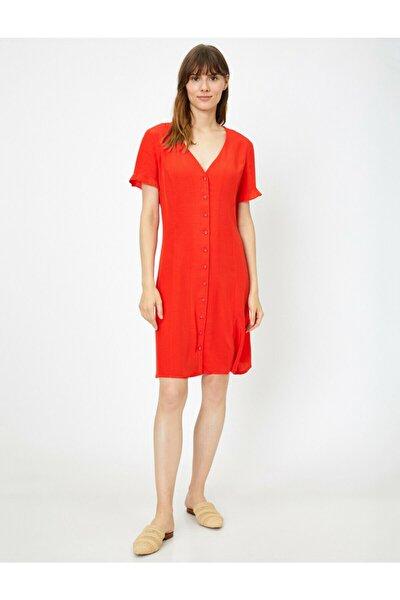 Kadın Kırmızı Elbise 8YAK88653PW