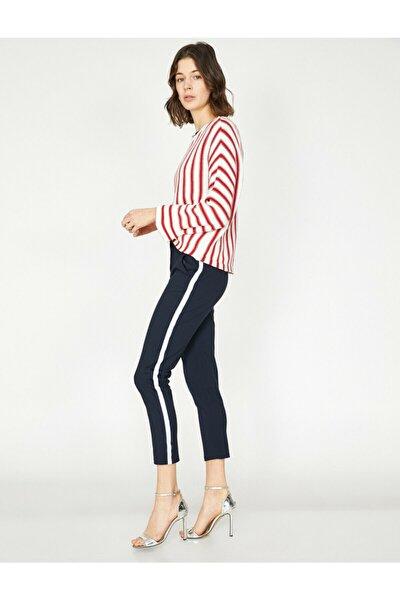 Kadın Lacivert Çizgili Pantolon 9KAK42007UW