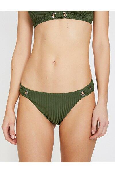 Kadın Yeşil Toka Detaylı Bikini Altı