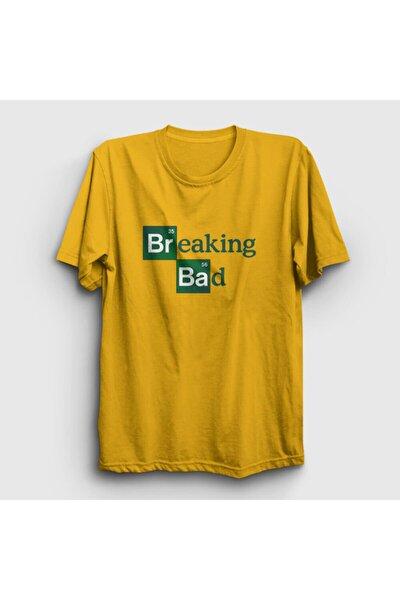 Unisex Sarı Logo Breaking Bad T-shirt 185103tt