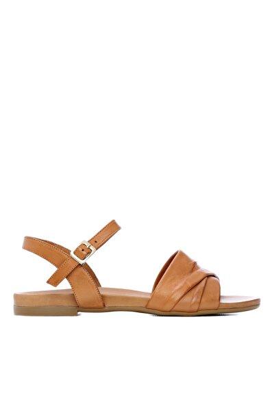 Kadın Kahverengi Deri Sandalet Sandalet 766 0266 Byn Sndlt 21