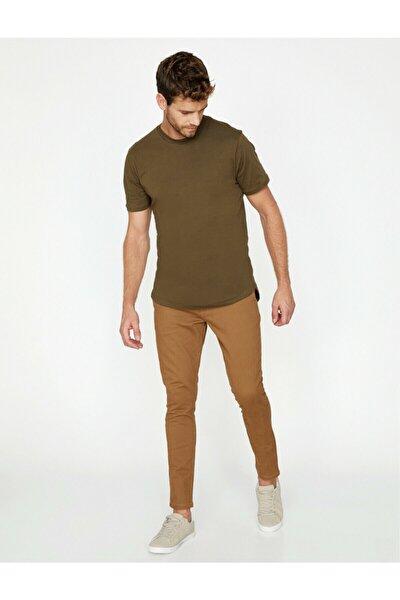Erkek Kahverengi Dar Kesim Pantolon