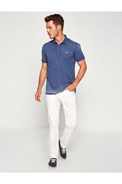 Erkek Beyaz Dar Kesim Pantolon