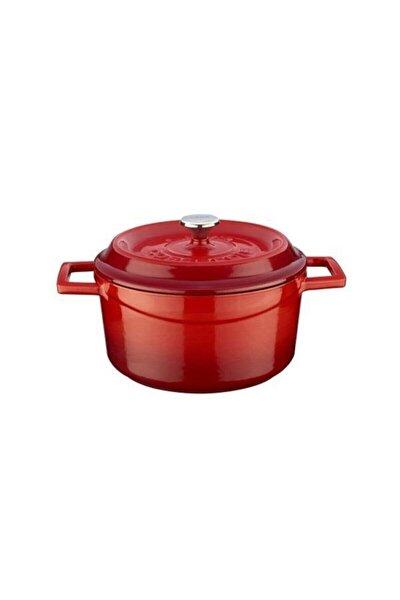 Kırmızı Yuvarlak Döküm Trendy 24 Cm Tencere Lvytc24k2r