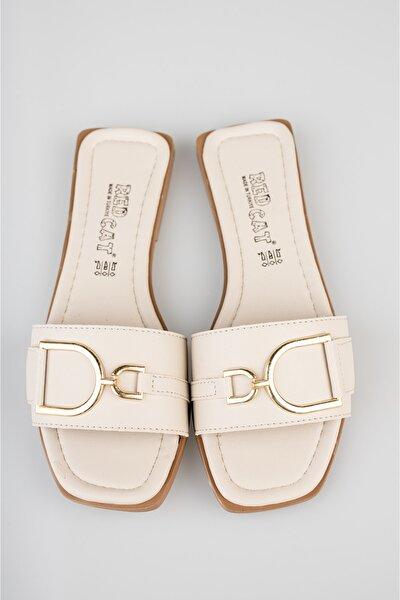 Kadın Beyaz Sandalet Terlik