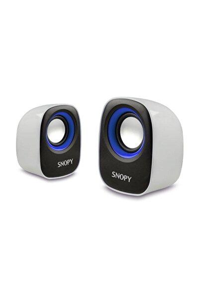 Sn-120 Beyaz-mavi Usb Speaker