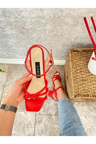 Kadın Kırmızı Sandalet 500602k