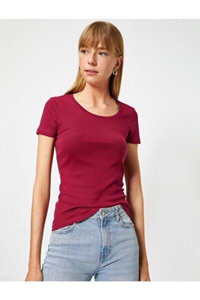 Kadın Bordo T-Shirt 0YTK12085SK