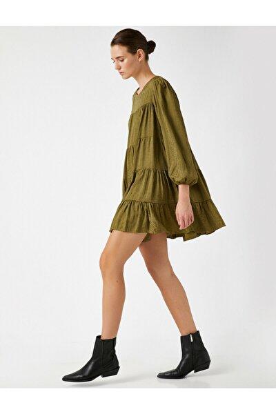 Kadın Jakar Leopar Desenli Mini Elbise