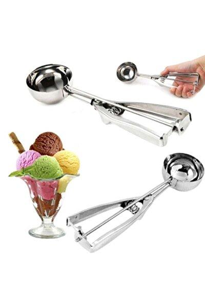 Paslanmaz Çelik Çek Bırak Top Dondurma Alma Kaşığı
