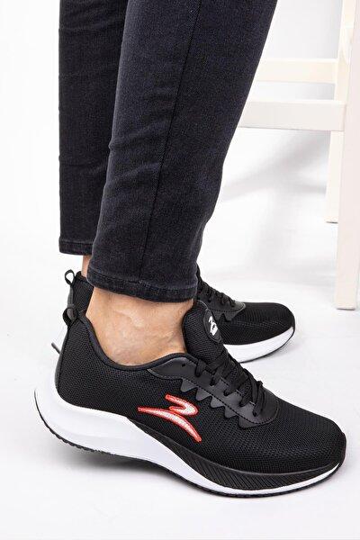Unisex Memory Tabanlı Günlük Spor Ayakkabı Dar Kalıptır Sneaker Siyah & Beyaz & Yeşil & Turuncu