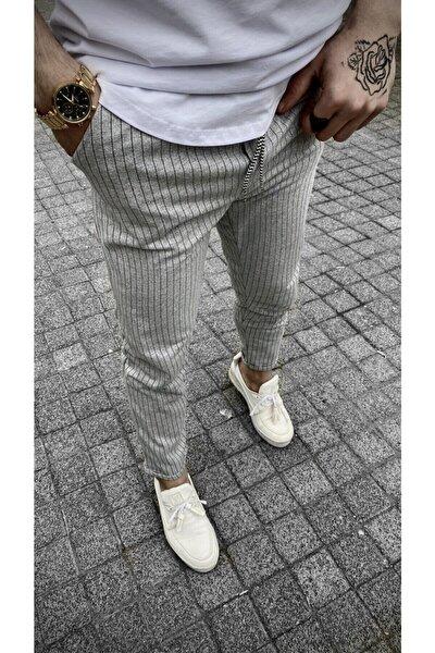 Slim Fit Çizgili Jogger Pantolon