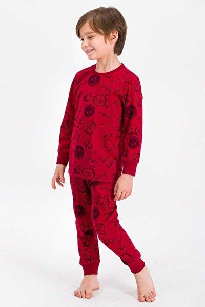 Erkek Çocuk Bordo Pijama Takımı