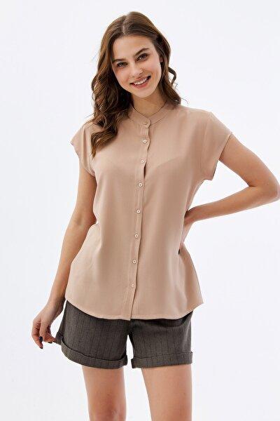 Kadın Hakim Yaka Kısa Kollu Gömlek P21s110-1173