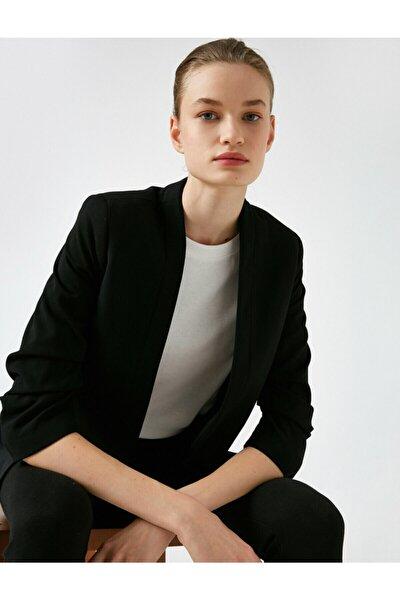 Kadın Siyah Kollu Blazer Ceket