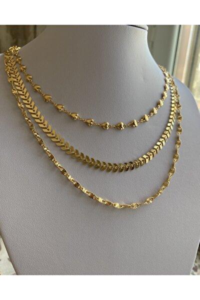 Kadın Gold  Zincir Kolye Seti