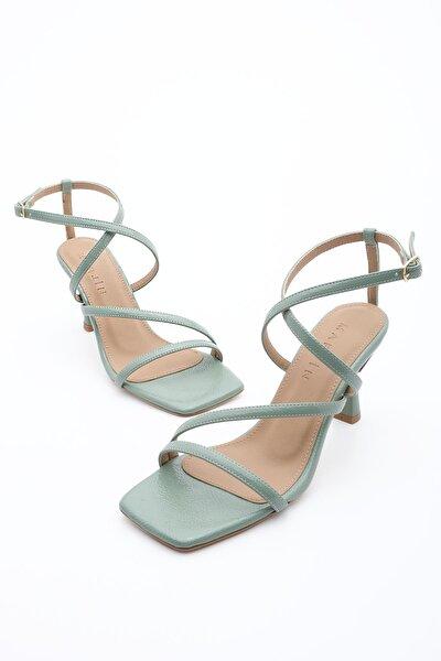 Kadın Topuklu Ayakkabı Raniyeşil Rugan