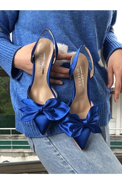 Kadın Saks Mavisi Topuklu Ayakkabı