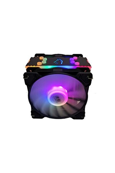 T4 Cpu Soğutucu Fan Rgb Lıght Board Çift Fan