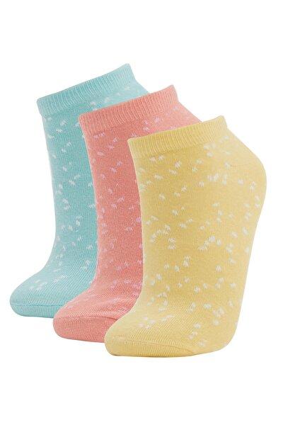 Desenli Patik Çorap  3'lü