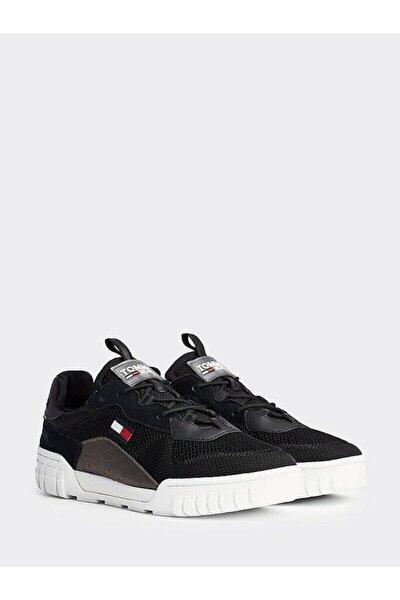 Erkek Siyah Sneaker Retro Mesh Sneaker EM0EM00398
