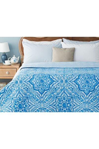 Cadance Baskılı Çift Kişilik Yatak Örtüsü - Mavi