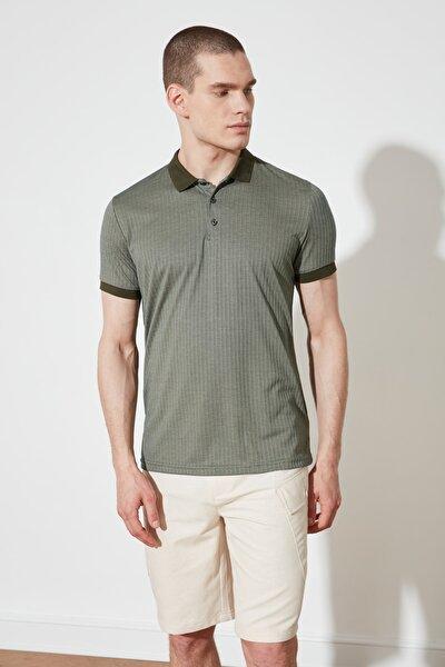 Haki Erkek Slim Fit Polo Yaka T-shirt TMNSS21PO0213