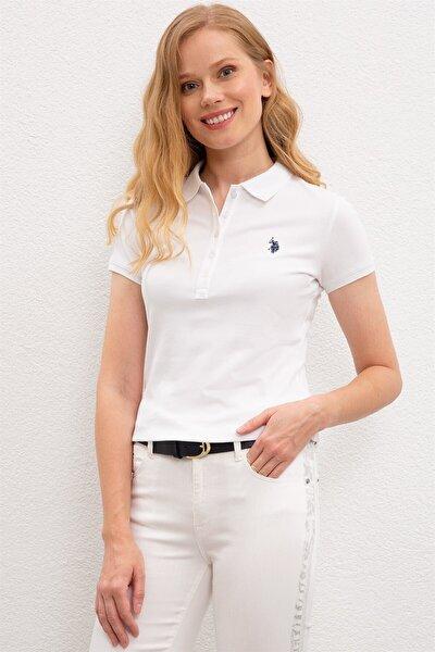 Kadın Beyaz Polo T-shırt 1227451