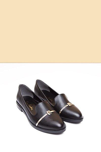 Pc-50599 Parlak Siyah Kadın Babet Ayakkabı