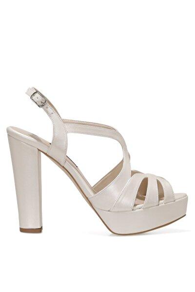 SINDY 1FX Beyaz Kadın Topuklu Sandalet 101031066