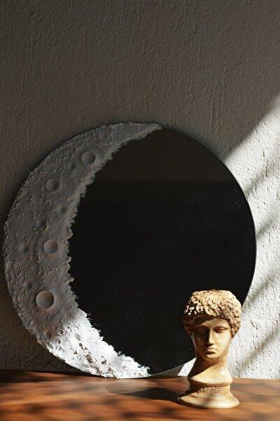 Beyaz Ay Desenli Krater Ayna