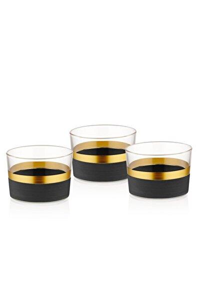 Glow Kase 3 Lü Siyah & Gold