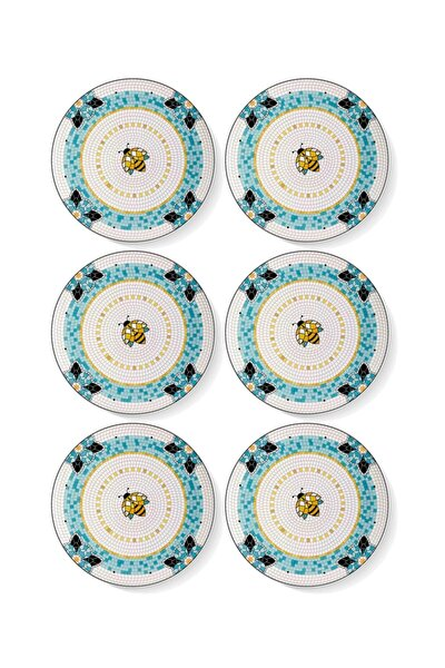 Patio Pasta Tabağı 6 Lı Set - 19 Cm