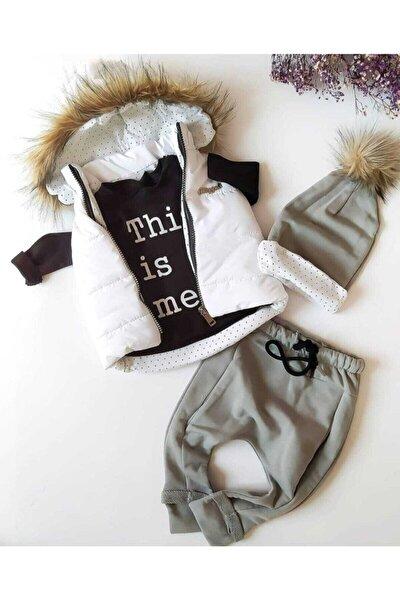 Unısex Bebek Şişme Yelekli Üçlü Takım