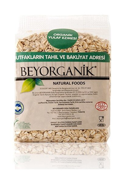 Gıda Organik Taze Çekilmiş Yulaf Ezmesi 285 Gr