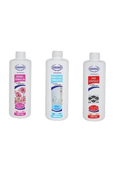 Temizlik Seti - Genel Temizlik + Yağ Çözücü + Banyo Wc 1000 Er ml