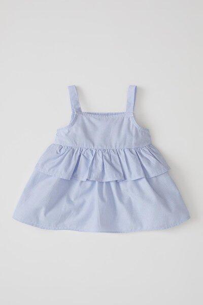 Kız Bebek Askılı Gömlek
