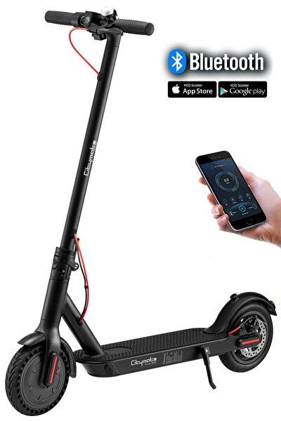 Plus 350Watt Elektrikli Scooter 8.5 inch Şişme Teker Bluetooth Siyah