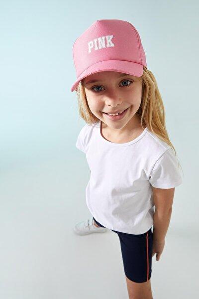 Kız Çocuk Yazı Baskılı Baseball Şapka
