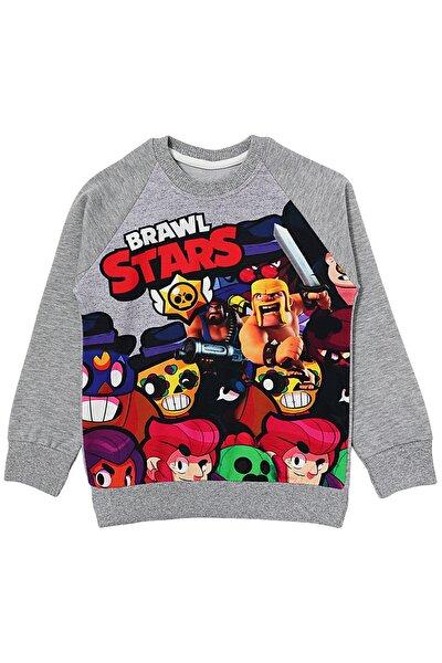 Gri BRAWL STARS Erkek Çocuk Sweatshirt