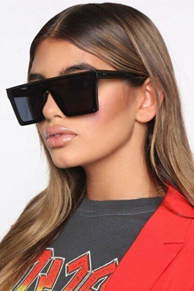 Kadın Kare Siyah Kalın Çerçeveli Büyük Güneş Gözlüğü