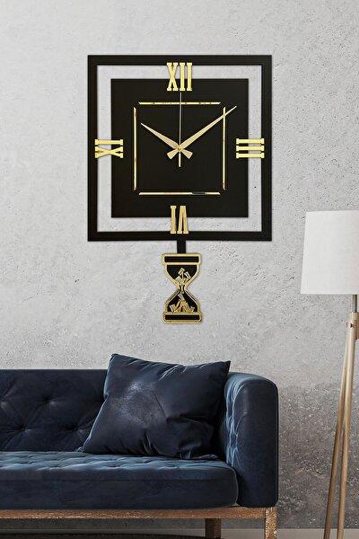 Lavinya Altın Premium Sallanır Sarkaçlı Duvar Saati